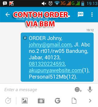 Cara Order Domain Hosting dari BBM