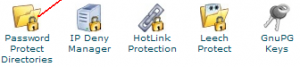 Password Directory Penting di Cpanel