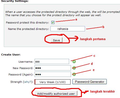 Password Directory Penting di Cpanel 2
