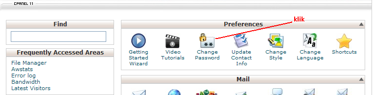 Update Password Cpanel 3