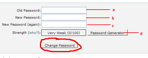 Update Password Cpanel 4