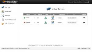 VPS Murah Berkualitas Virtualizor Dashboard