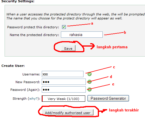 Password Directory Penting di Cpanel 2